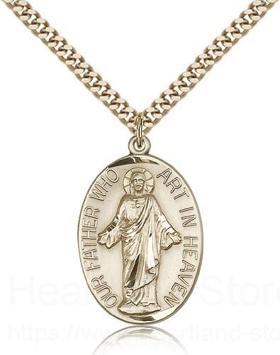Our Father Medal, Gold Filled