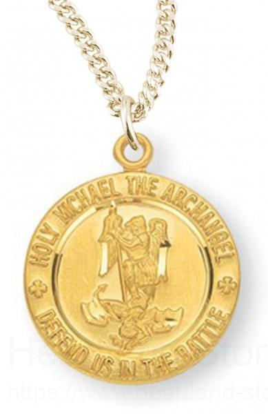 Womens dainty 16kt gold over sterling silver round saint michael view larger aloadofball Choice Image