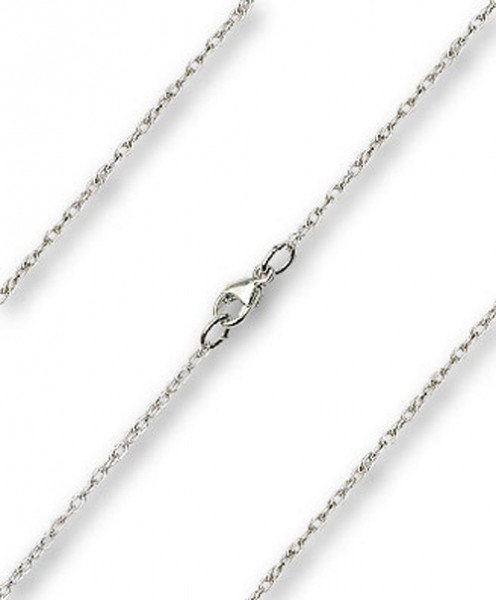 Women's Dainty Rope Chain with Clasp - Sterling Silver