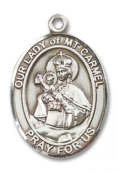Our Lady of Mount Carmel Medal, Sterling Silver, Large - No Chain