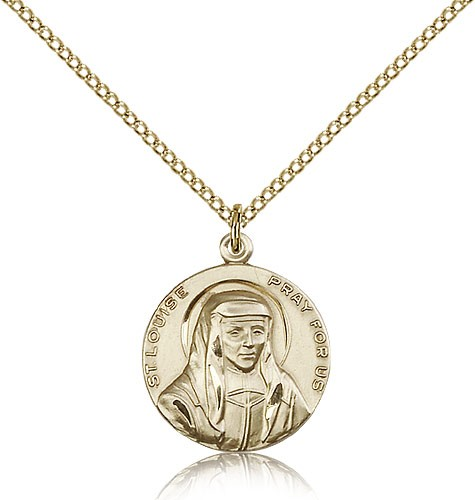 St. Louise Medal, Gold Filled - Gold-tone