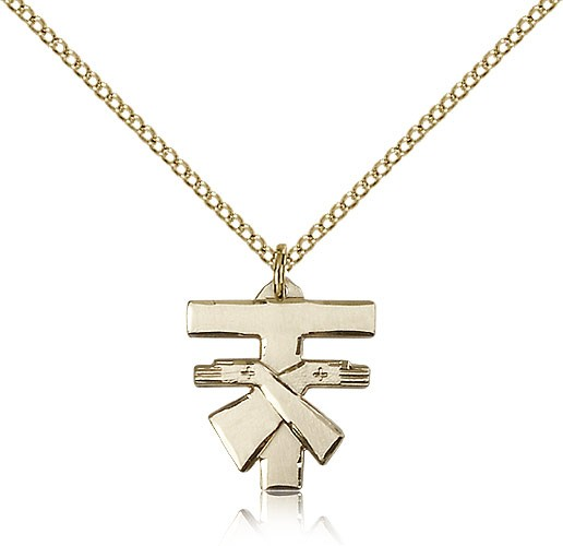 Franciscan Cross Pendant, Gold Filled - Gold-tone