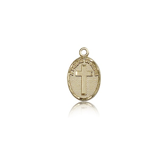 Friend In Jesus Cross Pendant, 14 Karat Gold - 14 KT Yellow Gold