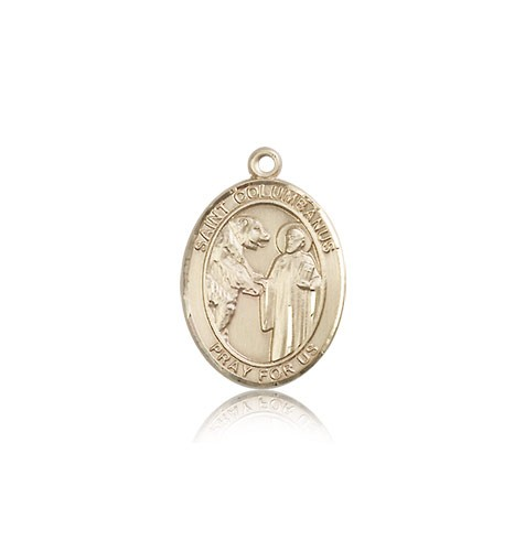 St. Columbanus Medal, 14 Karat Gold, Medium - 14 KT Yellow Gold