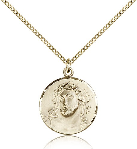 Ecce Homo Medal, Gold Filled - Gold-tone