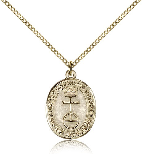 Women's Gold Filled United Church of Christ Medal - Gold-tone