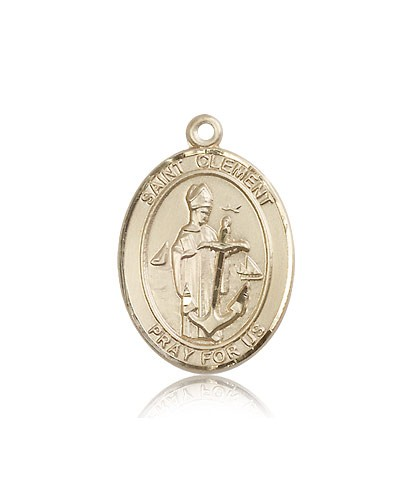 St. Clement Medal, 14 Karat Gold, Large - 14 KT Yellow Gold