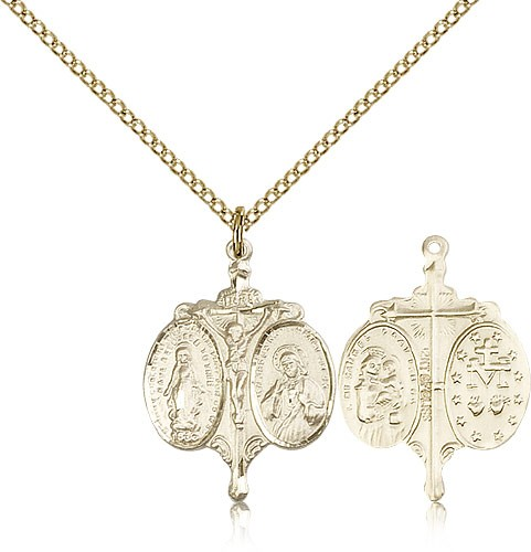 Novena Medal, Gold Filled - Gold-tone
