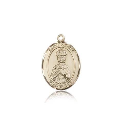 St. Henry II Medal, 14 Karat Gold, Medium - 14 KT Yellow Gold