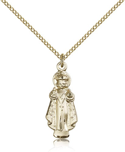 Infant of Prague Medal, Gold Filled - Gold-tone