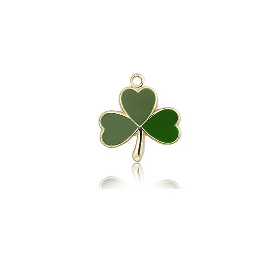 Shamrock Medal, 14 Karat Gold - 14 KT Yellow Gold