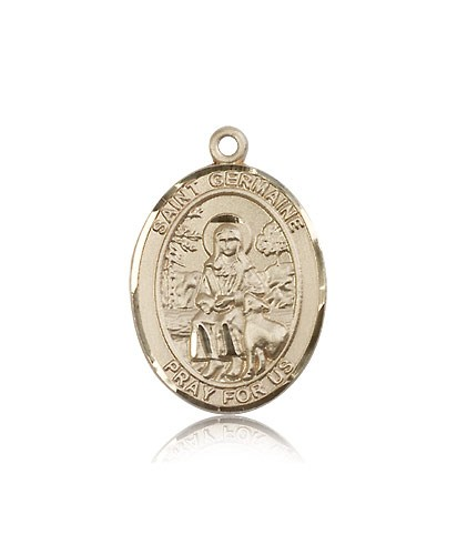 St. Germaine Cousin Medal, 14 Karat Gold, Large - 14 KT Yellow Gold
