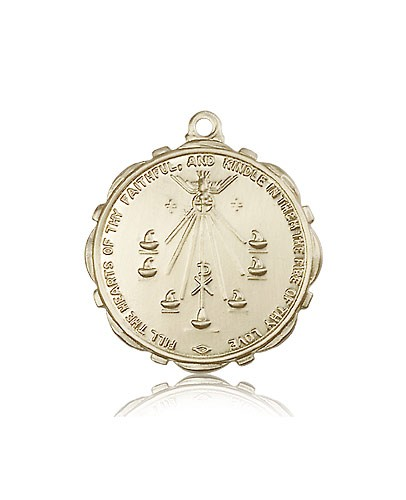 Seven Gifts Medal, 14 Karat Gold - 14 KT Yellow Gold