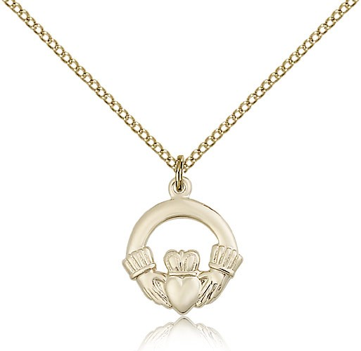 Claddagh Medal, Gold Filled - Gold-tone
