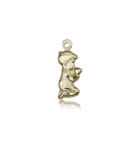 Praying Boy Medal, 14 Karat Gold - 14 KT Yellow Gold