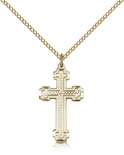 Cross Pendant, Gold Filled - Gold-tone