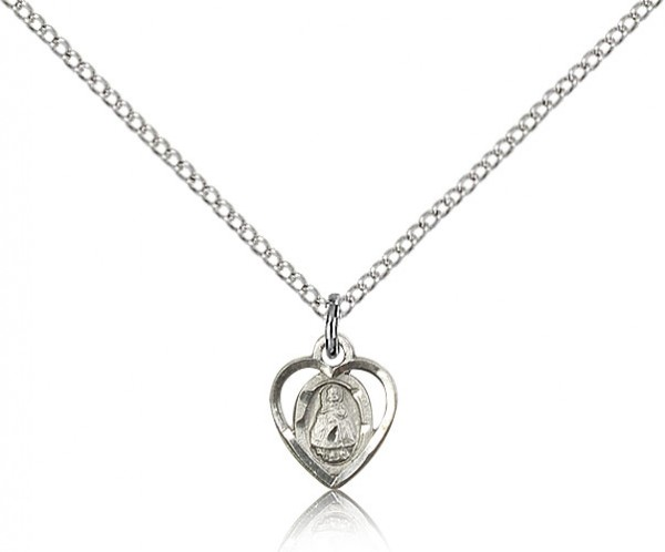 "Infant Medal, Sterling Silver - 18"" 1.2mm Sterling Silver Chain + Clasp"