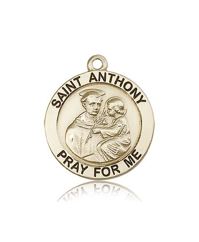 St. Anthony Medal, 14 Karat Gold - 14 KT Yellow Gold