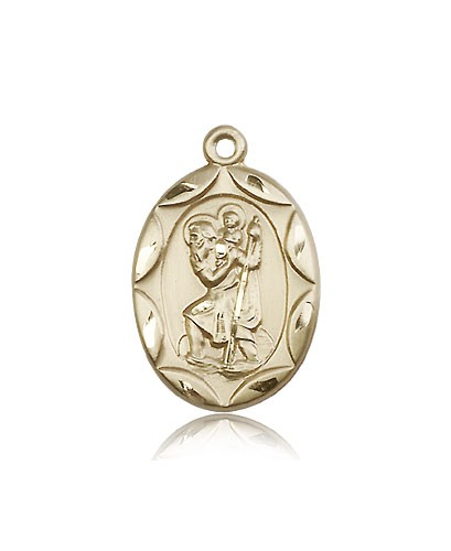 St. Christopher Medal, 14 Karat Gold - 14 KT Yellow Gold