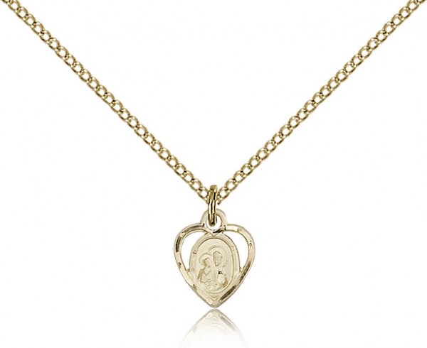 Our Lady of Perpetual Health Medal, Gold Filled - Gold-tone