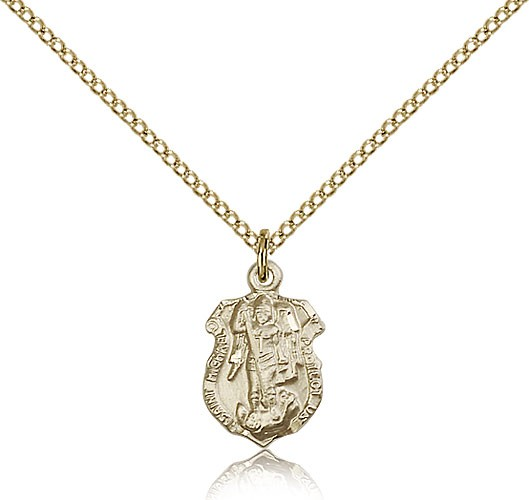 St. Michael the Archangel Medal, Gold Filled - Gold-tone