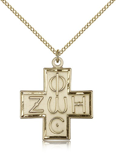 Light and Life Cross Pendant, Gold Filled - Gold-tone
