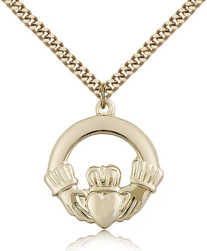 Claggagh Medal, Gold Filled - Gold-tone