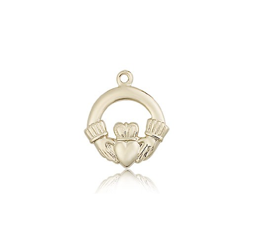 Claddagh Medal, 14 Karat Gold - 14 KT Yellow Gold