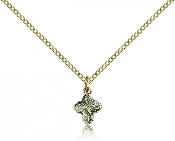 4 Way Cross Pendant, Gold Filled - Gold-tone