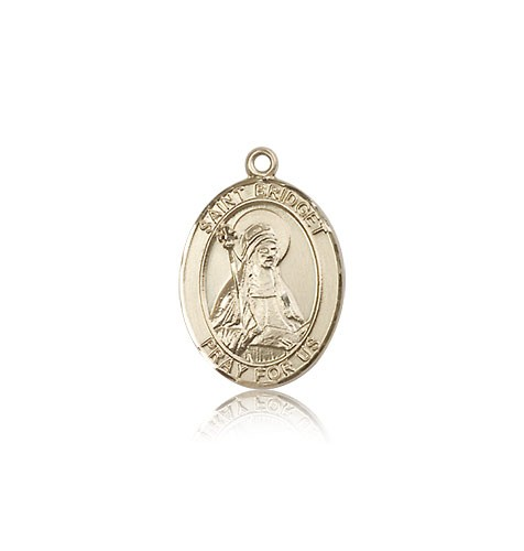 St. Bridget of Sweden Medal, 14 Karat Gold, Medium - 14 KT Yellow Gold