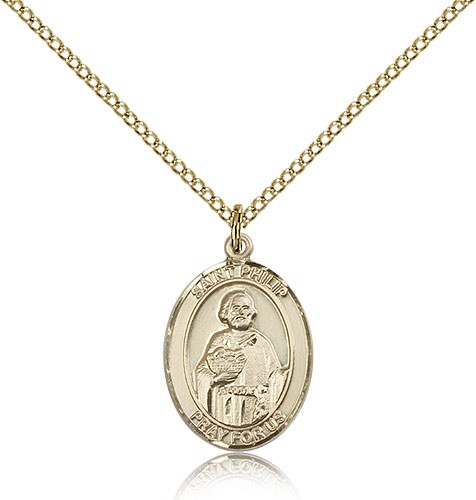 St. Philip the Apostle Medal, Gold Filled, Medium - Gold-tone