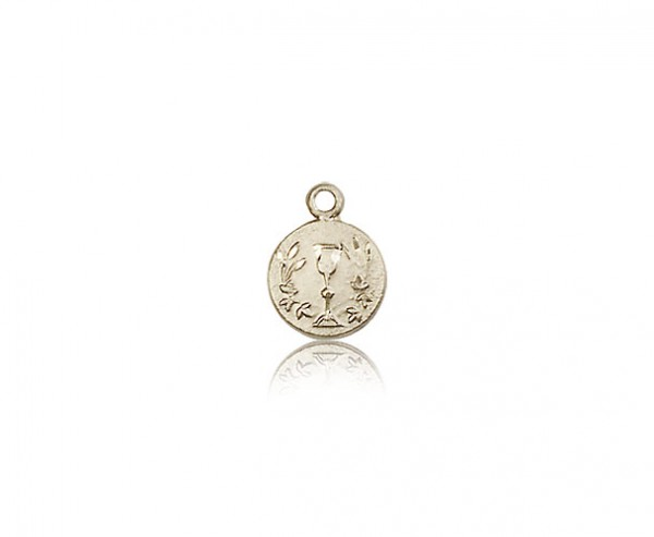 Communion Medal, 14 Karat Gold - 14 KT Yellow Gold