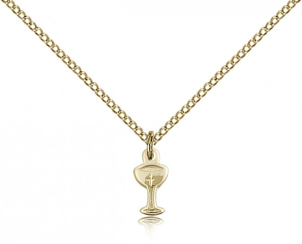 Chalice Medal, Gold Filled - Gold-tone