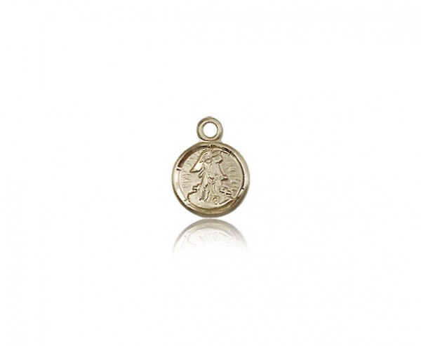 Guardian Angel Medal, 14 Karat Gold - 14 KT Yellow Gold