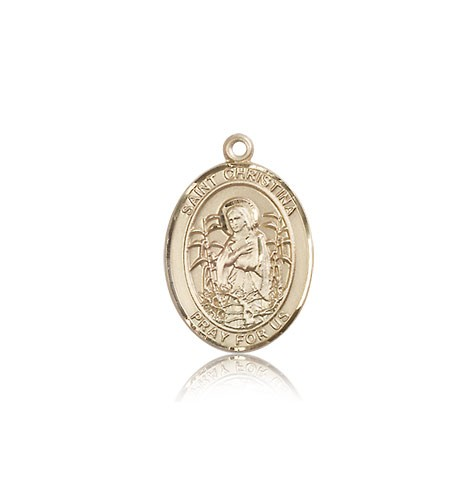 St. Christina the Astonishing Medal, 14 Karat Gold, Medium - 14 KT Yellow Gold