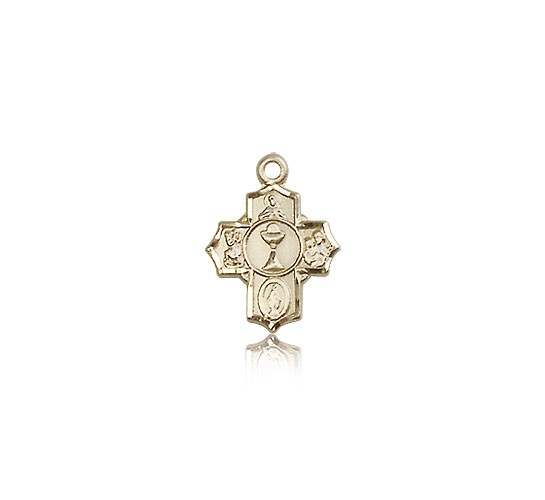 Communion 5 Way Cross Pendant, 14 Karat Gold - 14 KT Yellow Gold