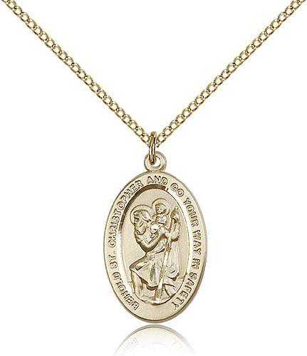 St. Christopher Medal, Gold Filled - Gold-tone