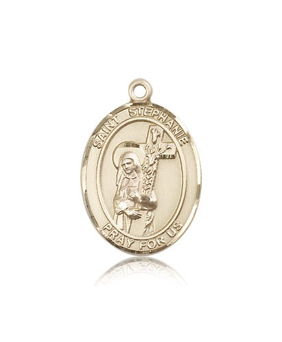 St. Stephanie Medal, 14 Karat Gold, Large - 14 KT Yellow Gold