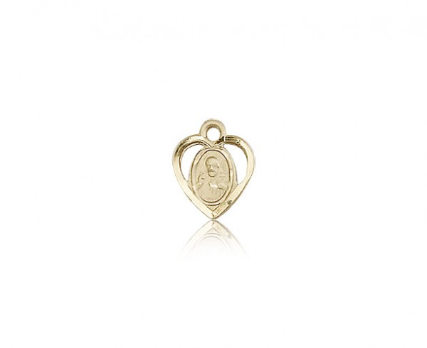 Scapular Medal, 14 Karat Gold - 14 KT Yellow Gold