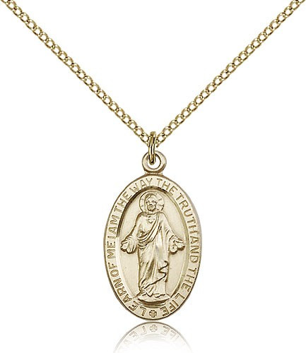 Scapular Medal, Gold Filled - Gold-tone