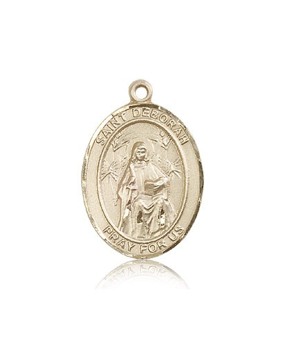 St. Deborah Medal, 14 Karat Gold, Large - 14 KT Yellow Gold