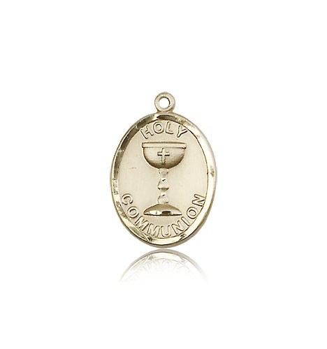 Holy Communion Medal, 14 Karat Gold - 14 KT Yellow Gold