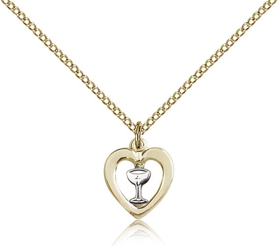 Heart Chalice Medal, Two-Tone - Two-Tone