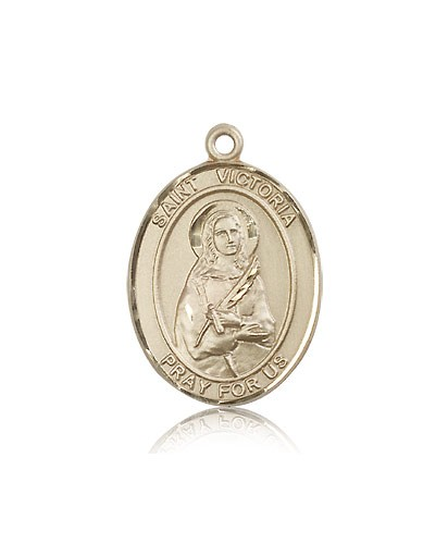 St. Victoria Medal, 14 Karat Gold, Large - 14 KT Yellow Gold