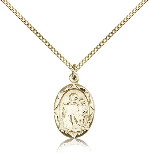 St. Joseph Medal, Gold Filled - Gold-tone