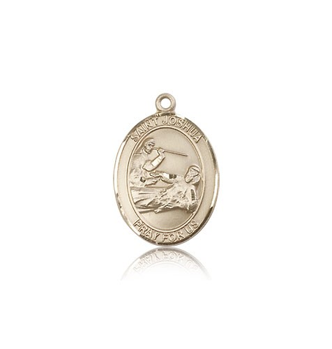 St. Joshua Medal, 14 Karat Gold, Medium - 14 KT Yellow Gold