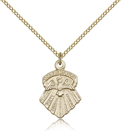 Seven Gifts Medal, Gold Filled - Gold-tone
