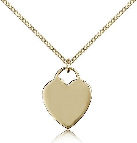 Heart Medal, Gold Filled - Gold-tone