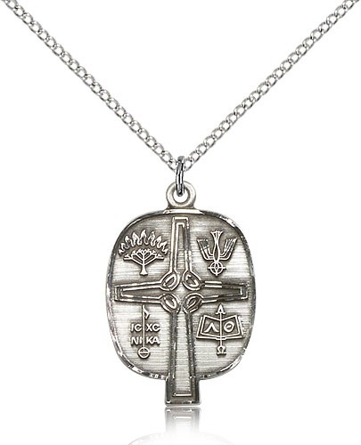 "Presbyterian Medal, Sterling Silver - 18"" 1.2mm Sterling Silver Chain + Clasp"