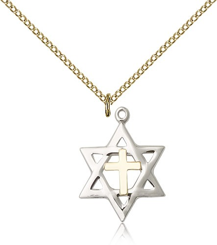Star of David Medal, Two-Tone - Two-Tone